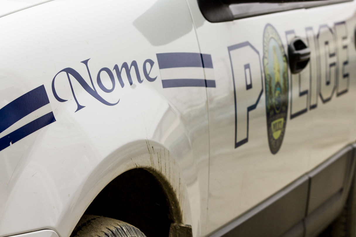 "A Nome Police Department vehicle. NPD has been named, along with the City of Nome, in the ACLU's recently announced claims on behalf of Clarice ""Bun"" Hardy. (Photo courtesy Matthew F. Smith/KNOM)"