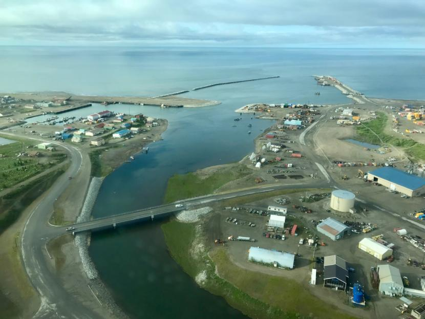 The Port of Nome at the mouth of the Snake River, June 2018.
