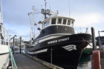 Frank Miles' pot and longline vessel, the Sumner Strait. (Photo by Kavitha George/Alaska's Energy Desk)