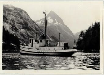 The M/V Chugach near Baranof Island. (Photo Courtesy of the U.S. Forest Service)