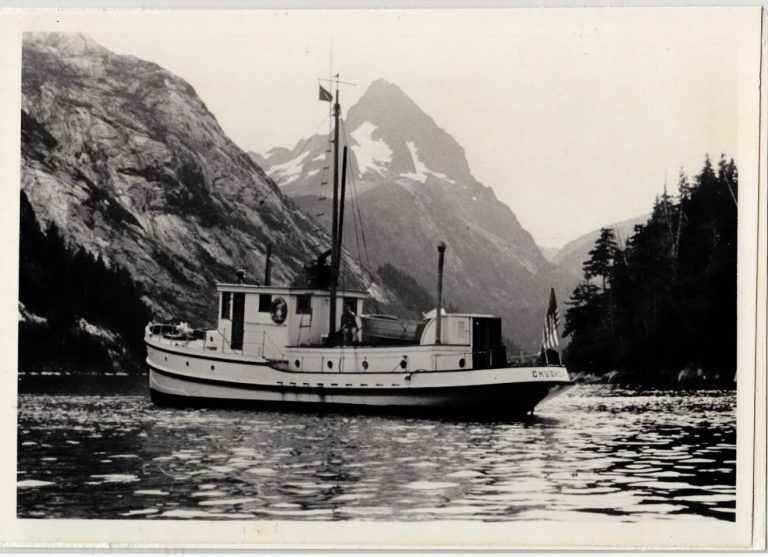 The M/V Chugach near Baranof Island. (Photo Courtesy of the U.S. Forest Service)