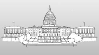 A sketch of the U.S. Capitol building.