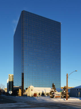 The Robert B. Atwood Building in downtown Anchorage, Alaska. (Creative commons photo courtesy / Paxson Woelber https://upload.wikimedia.org/wikipedia/commons/1/13/Robert_B._Atwood_Building._Anchorage%2C_Alaska.jpg)