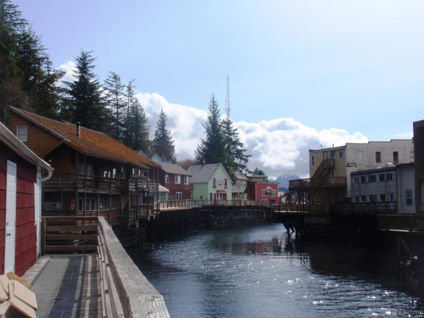 Creek Street in Ketchikan. (Photo Credit: Department of Commerce, Community and Economic Development; Division of Community and Regional Affairs' Community Photo Library.)