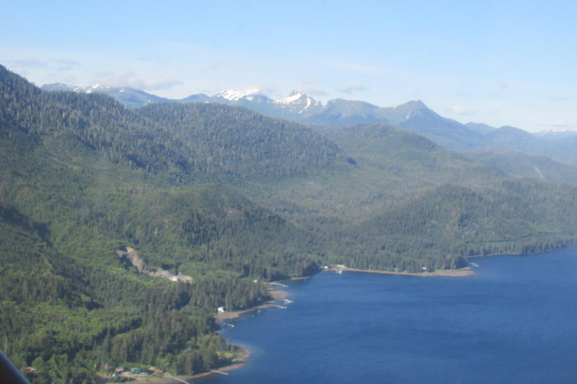 An aerial shot of Prince of Wales Island. (Photo courtesy KRBD)