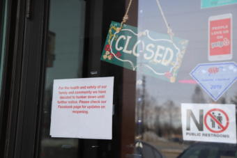 Businesses all over Alaska have been shuttered due to the COVID-19 pandemic. (Photo courtesy Hannah Lies/Alaska Public Media)
