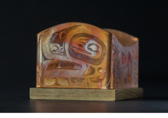 Best of Show winner: Ch'áak' Aanyádi (The High Caste Eagle) by Jerrod Galanin. (Photo by Caitlin Fondell courtesy of Sealaska Heritage Institute)