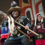 Florentino Tiny Barril of the Alaska Kuteeyaa Dancers Celebration 2016. (Photo courtesy of Brian Wallace)