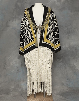 """Ravenstail Knitted Coat,"" photos by Brian Wallace, courtesy of Sealaska Heritage Institute"