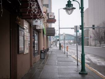 Many businesses closed or reduced operations early on during the COVID-19 pandemic. (Abbey Collins/Alaska Public Media)