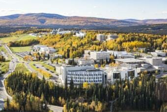 The University of Alaska Fairbanks campus