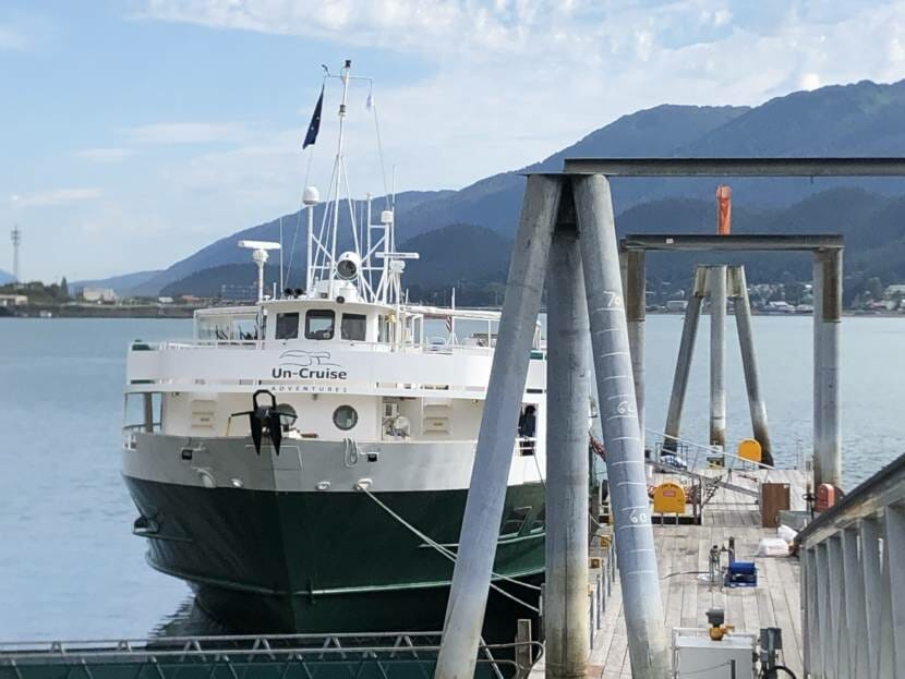 The Wilderness Adventurer docked in Juneau