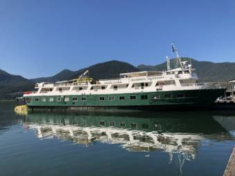 The Wilderness Adventurer, a small cruise ship operated by Seattle-based UnCruise.