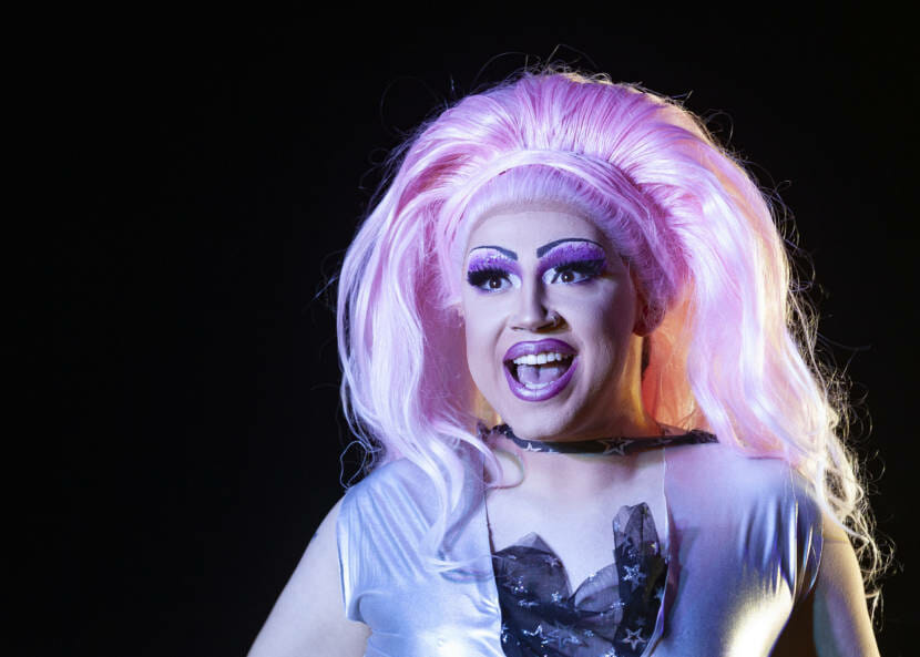 Luna makes her drag debut during the Glitz Drive-In Drag Show on Saturday, August 29, 2020, in Juneau, Alaska. (Photo courtesy Rashah McChesney)