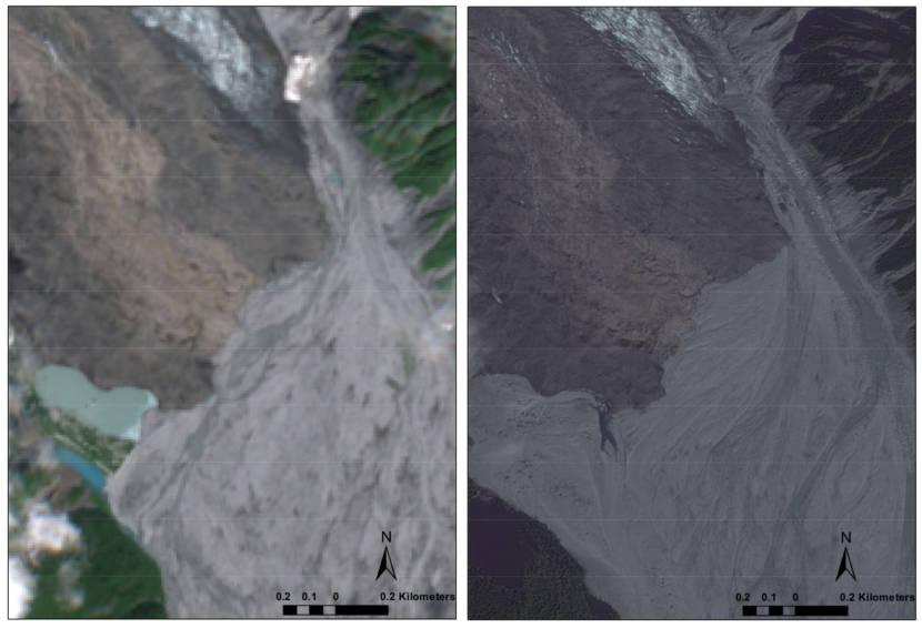 Lituya Glacier river delta