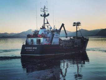 The F/V Scandies Rose sank west of Kodiak on Dec. 31, 2019. (Photo courtesy of Bret Newbaker)