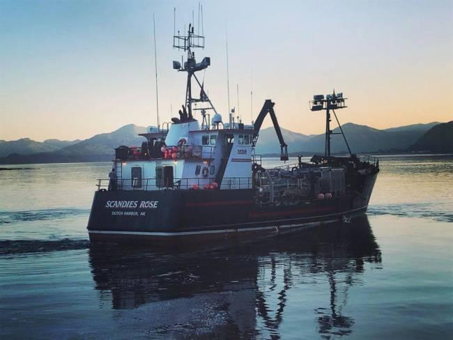 The F/V Scandies Rose sank west of Kodiak on Dec. 31, 2019. (Photo courtesy of Bret Newbaker)