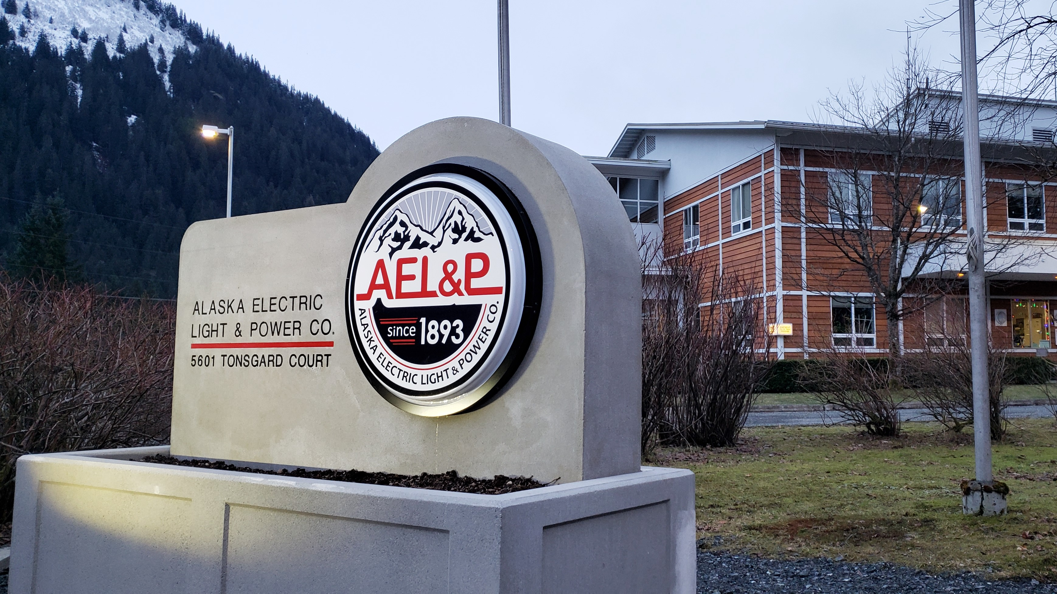 AEL&P, pictured here on Jan. 9, 2021, is located at 5601 Tonsgard Court in Juneau.