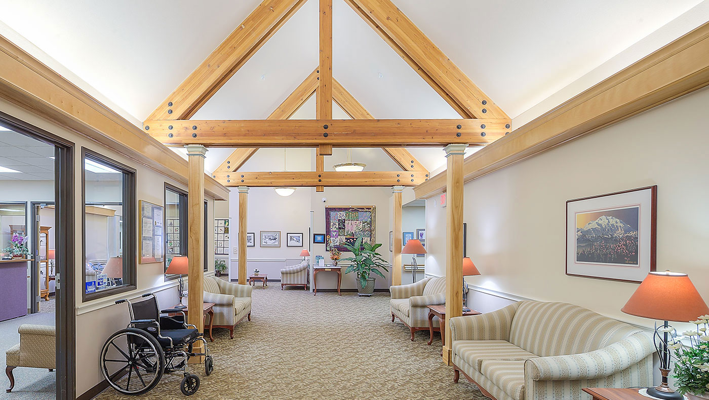 Wildflower Court, a longterm care facility, in Juneau, Alaska. The facility has had an outbreak of COVID-19 among residents and staff, but despite the vulnerable patient population most cases have had no symptoms. (Photo courtesy Wildflower Court)