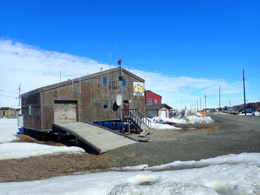 The building that houses the Native Village of Kaktovik