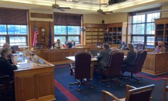 Alaska House Finance Committee members listen to a presentation on the committee proposal for how to spend American Rescue Plan Act funds on April 23, 2021, in the Alaska State Capitol in Juneau, Alaska. (Photo by Andrew Kitchenman/KTOO and Alaska Public Media)