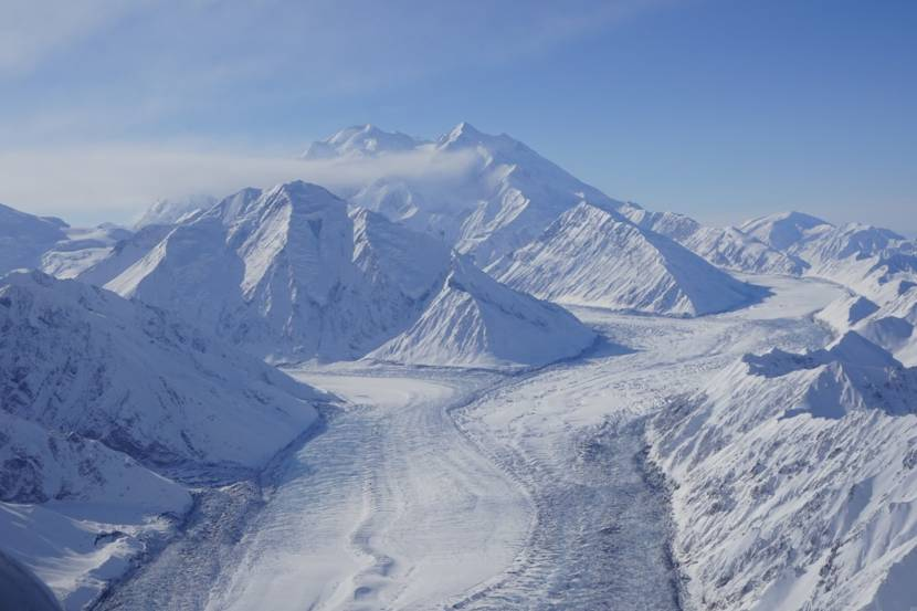 Denali Park glacier surging for the first time since 1957