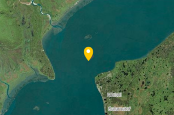 The spill site, near Nikiski in Cook Inlet. (Graphic courtesy of the Alaska Department of Environmental Conservation)