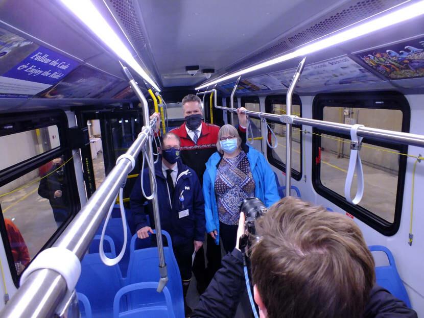 E-bus photo op