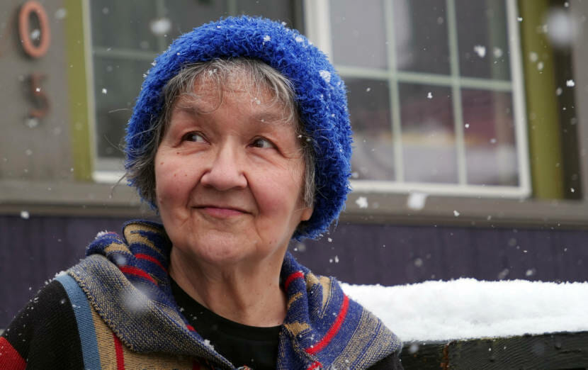 Ernestine Hayes is seen in Juneau, Alaska, this winter. (Photo by Pat Race)