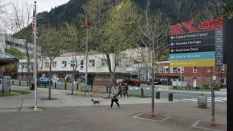 Marine Park, downtown Juneau, City Hall 2021 06 01