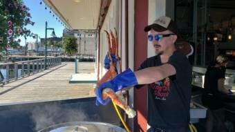 Derek Schneider at Tracy's King Crab Shack