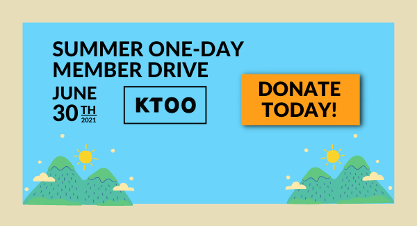 Summer One-Day Member Drive. June 30, 2021. Donate Today.