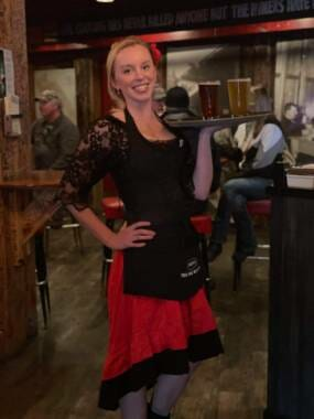 Emily Lange is a waitress at the Red Dog Saloon in Juneau.