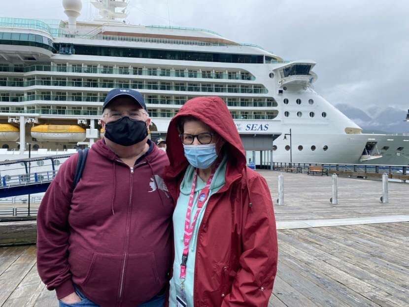 Russ and Kacy Radigan were aboard the Serenade of the Seas on Friday, July 23, 2021. It was their first time traveling to Alaska from Ohio.