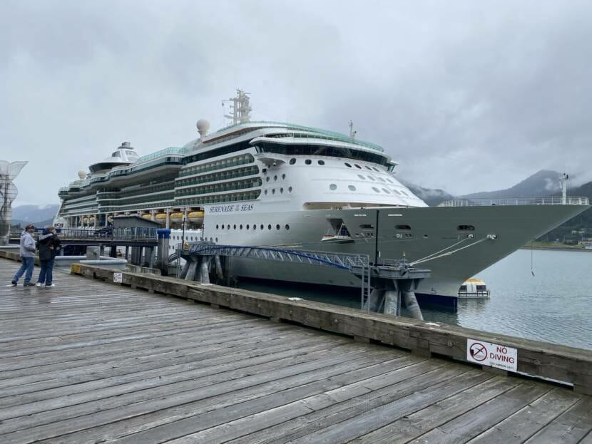 Royal Caribbean's Serenade of the Seas docks in Juneau on July 23, 2021.