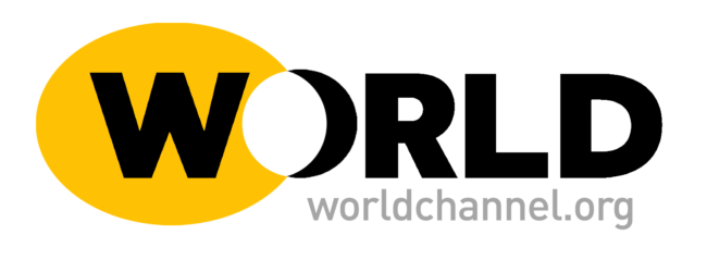 The WORLD Channel yellow and black logo.