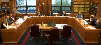 The Alaska House Finance Committee discusses an amendment to set the permanent fund dividend amount at $1,100 on Aug. 24, 2021, in the Alaska State Capitol in Juneau. (Gavel Alaska screen capture)