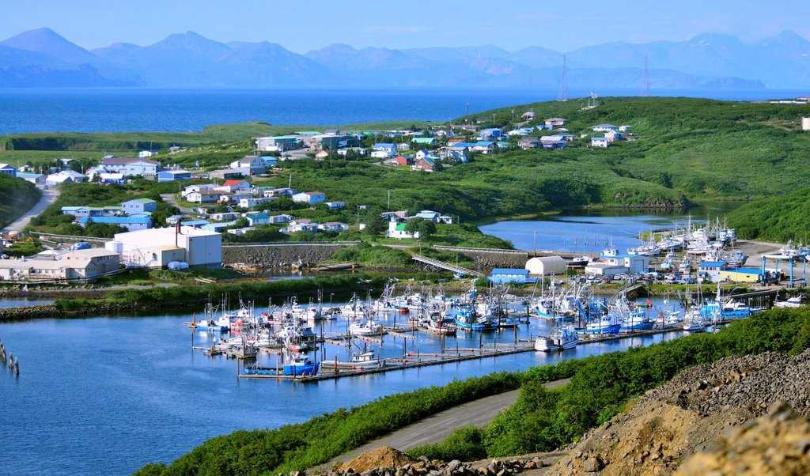The small Aleutian Islands community of Sand Point has seen a surge of COVID-19 infections. (Photo courtesy KSDP)