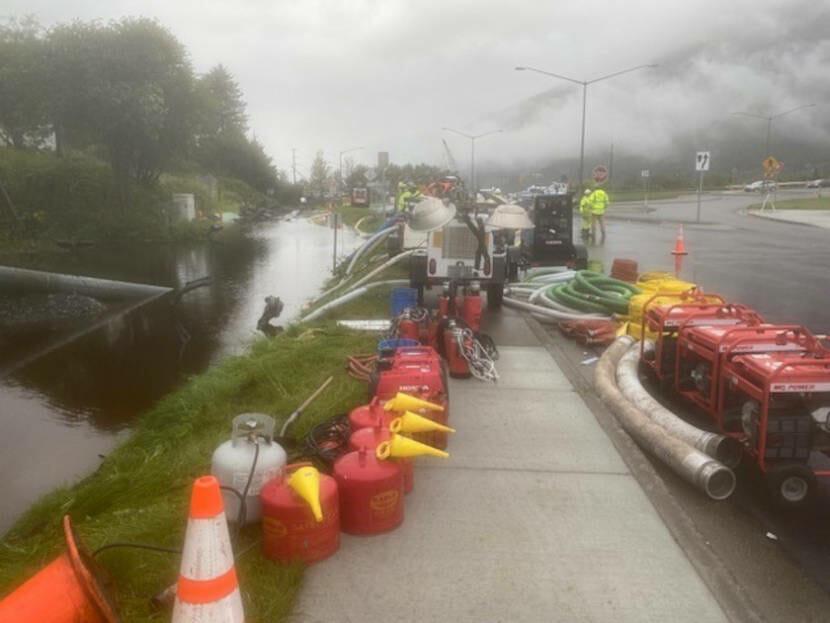 Sitka Street flooding